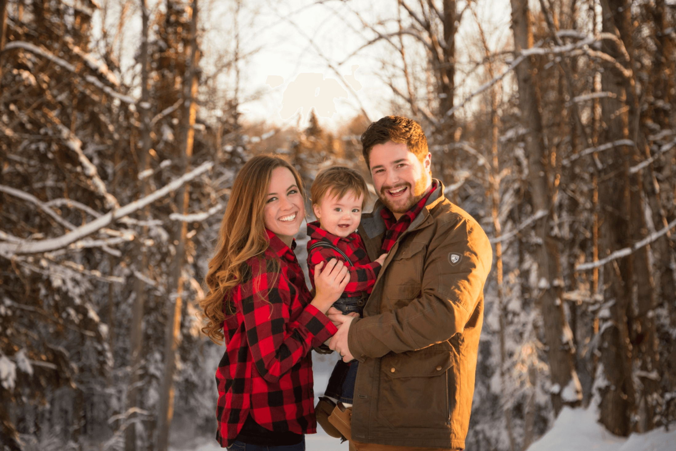 baby it's cold outside Alaska winter outdoor session family photographer